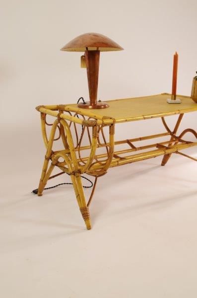 Vintage rotan salontafel
