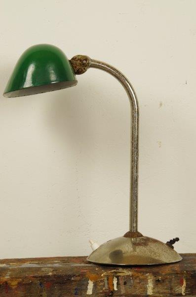 Oude bankierslamp