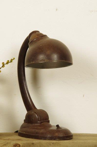 Vintage oude tafellamp bakeliet