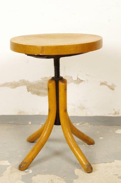 Vintage houten kruk