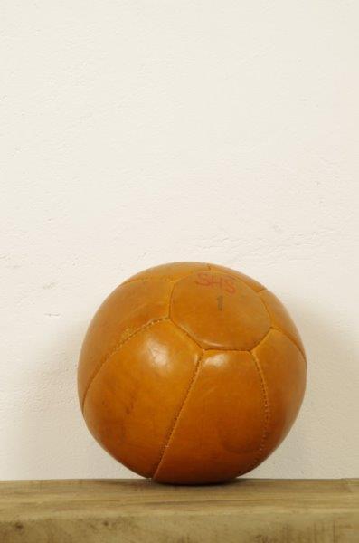 Vintage leren medicijn bal