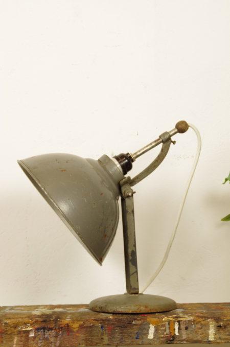 Industriële stalen grijze tafellamp, bureaulamp