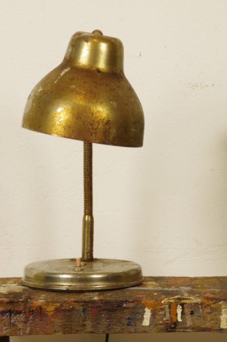 Stalen bureaulamp koper-goudkleurig
