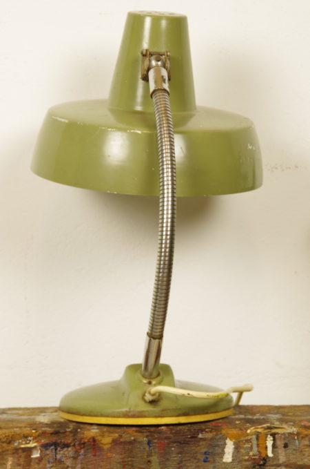 Vintage bureaulamp oud groen