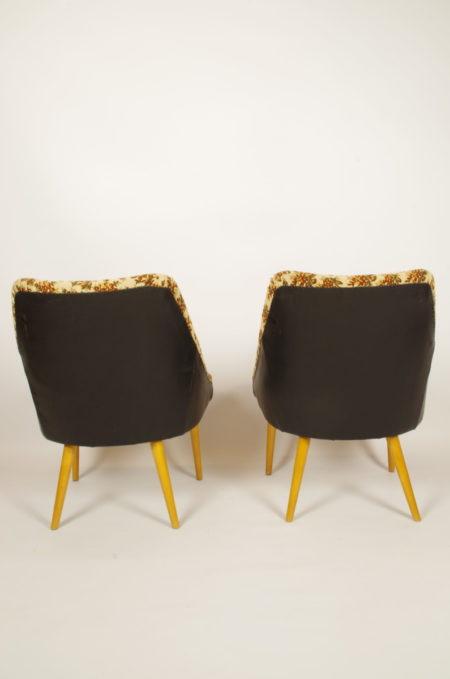 Vintage gebloemde stoeltjes beige