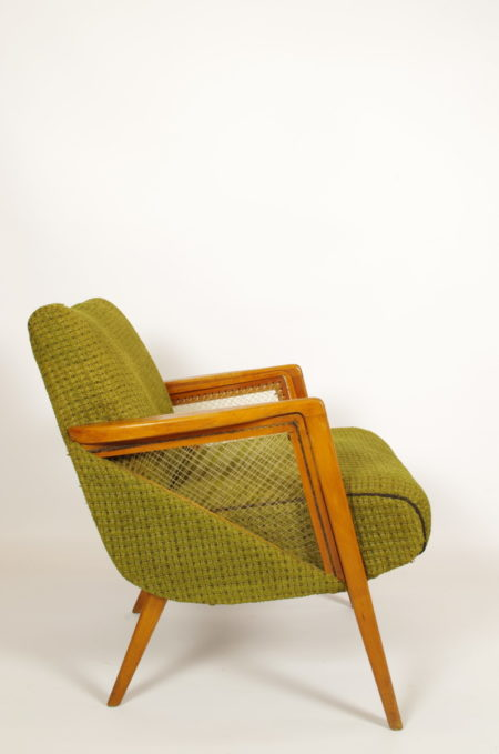 Vintage groene stoel | fauteuil