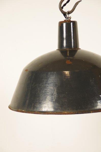 Industriële hanglamp donkerblauw-grijs