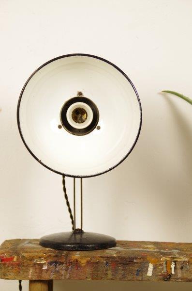 Stoere industriële zwarte lamp