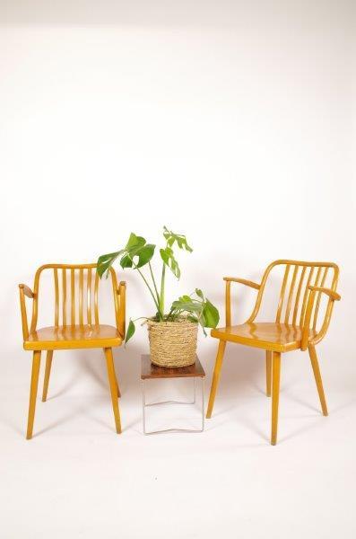 Vintage houten stoelen