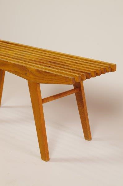 Vintage houten bankje