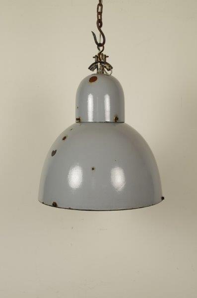 Industriële blauw grijze hanglamp