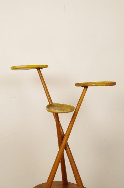 ntage houten plantenrek