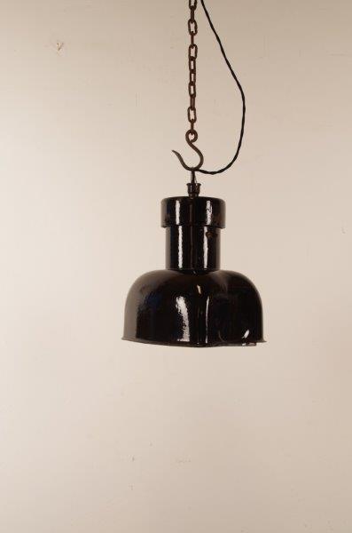 Unieke Industriële vierkante zwarte emaille hanglamp