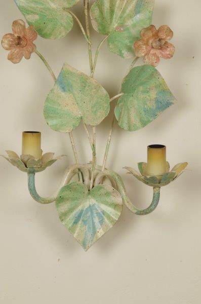Vintage wandlamp rozen