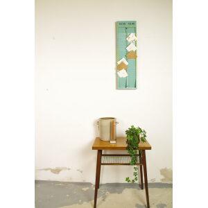 Blauw groene oude kaartenbak van hout