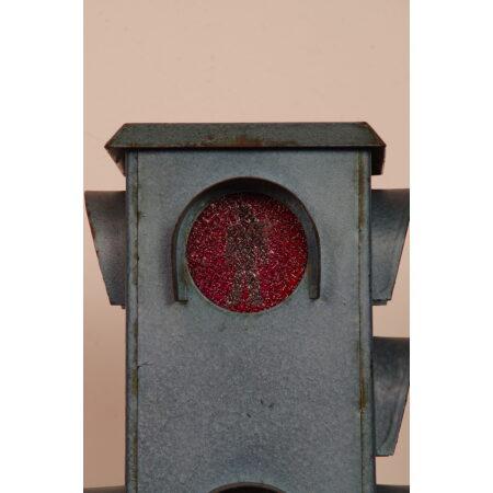 Vintage oude stoplicht voetganger