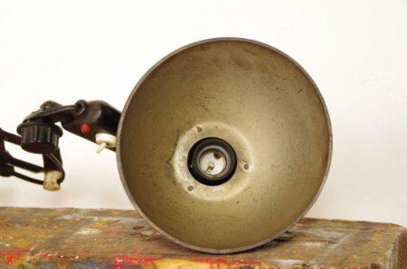Vintage schaarlamp met zwarte kap