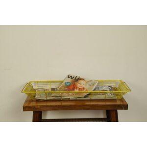 Lectuurmand, fruitmand kunststof geel