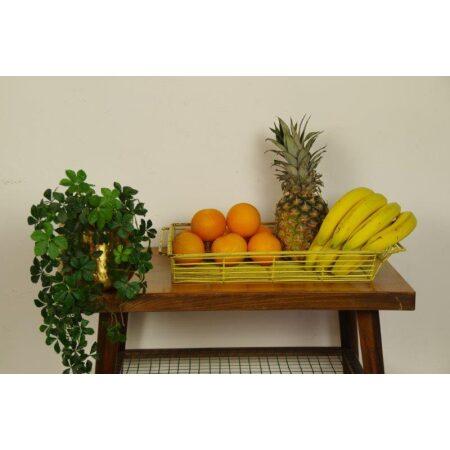 Lectuurmand, fruitmand van kunststof, geel