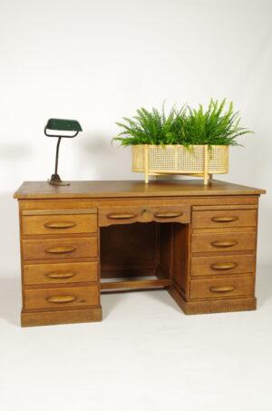 Antiek houten bureau, vintage notaris bureau