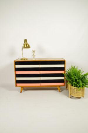 Vintage design fineer ladekast Jiri Jiroutek model U 450 | dressoir