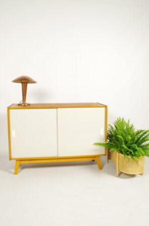 Vintage fineer design kast Jiri Jiroutek wit | sideboard
