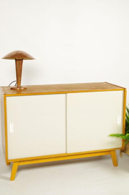 Vintage fineer design kast Jiri Jiroutek wit   sideboard