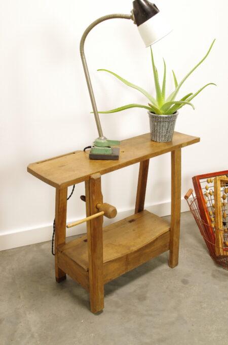 Vintage oude houten kinderwerkbank, werktafel kind, speeltafel