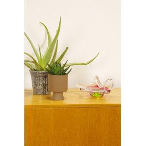 Vintage design glas, Jozef Hospodka, Chribska, bloem gevouwen