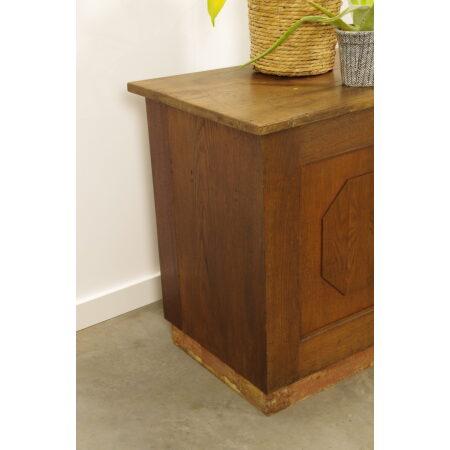 Vintage houten toonbank dressoir winkelmeubilair