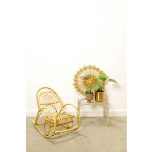 Vintage rotan kinderstoel, schommelstoel kind
