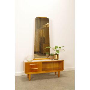 Vintage kaptafel, make up tafel met spiegel en lades