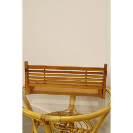 Vintage houten wandplank, wandrek