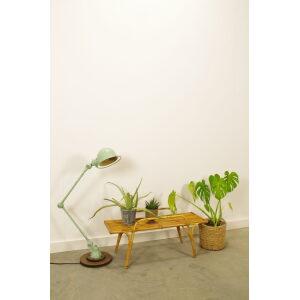Vintage rotan bankje, plantenrek jaren 60, plantenbankje