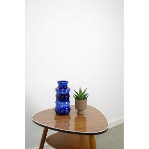 Vintage blauwe West Germany vaas 266-28