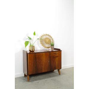 Vintage donker fineer kastje Tatra, sideboard, dressoir
