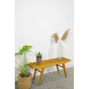 Vintage houten bankje, plantentafel