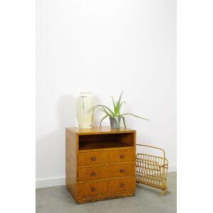 Vintage industrieel houten ladekast